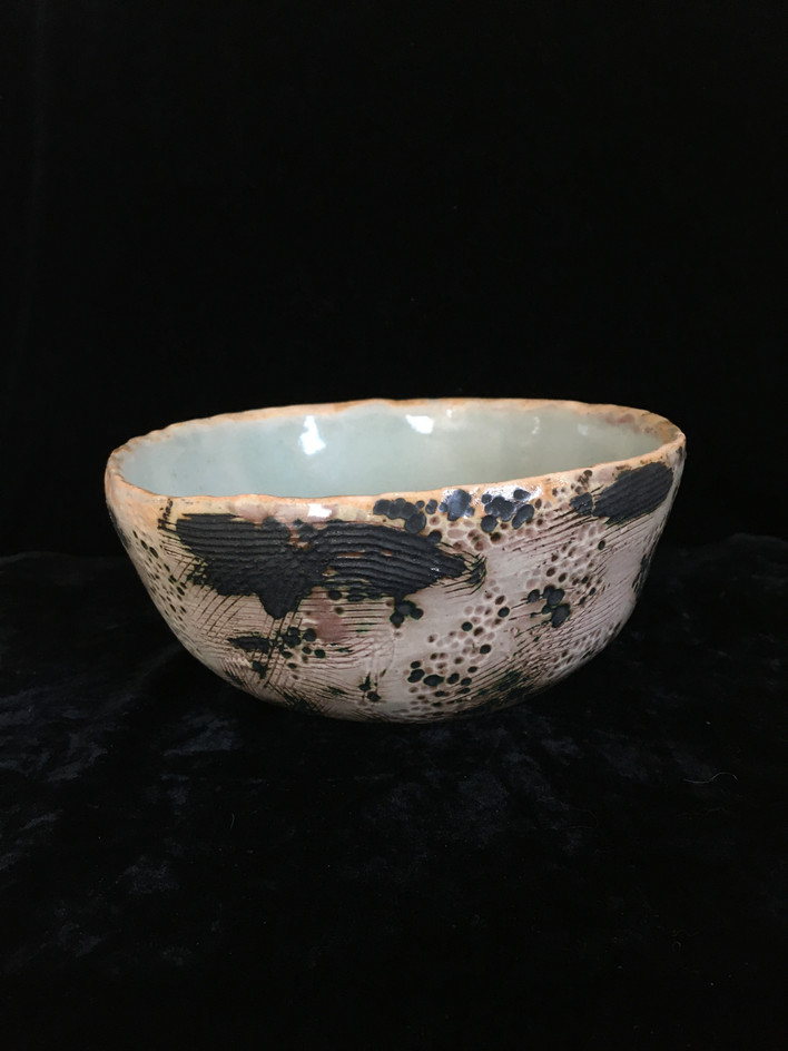 lumpy bowl 1, side view 1