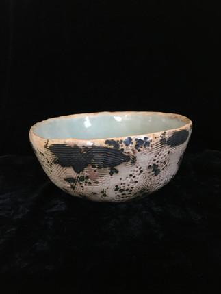 lumpy bowl 1, side view 1