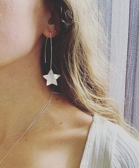 Star Earrings Long