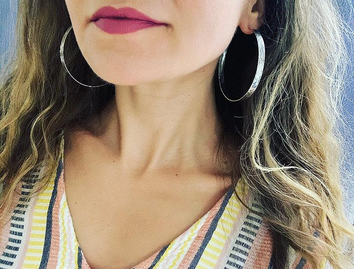 Classic Wide Very Large Hoop Earrings