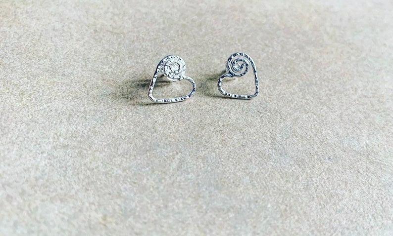 Sweet Heart Stud Earrings