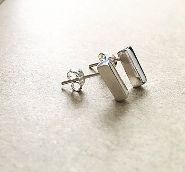 Solid Bar Stud Earrings