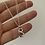 Thumbnail: Hammered Letter B Necklace