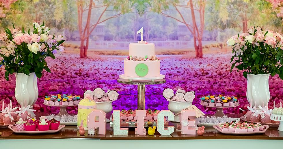 Mesa de doces finos e bolo infantil Francine Machado Cake & Design - aniversário infantil
