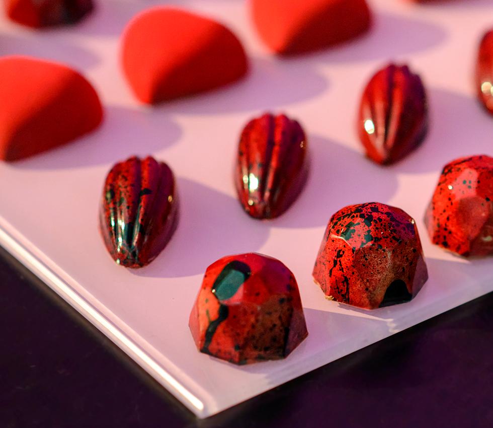 Francine Machado - Bombons de chocolate belga - diamante, cacau e coração