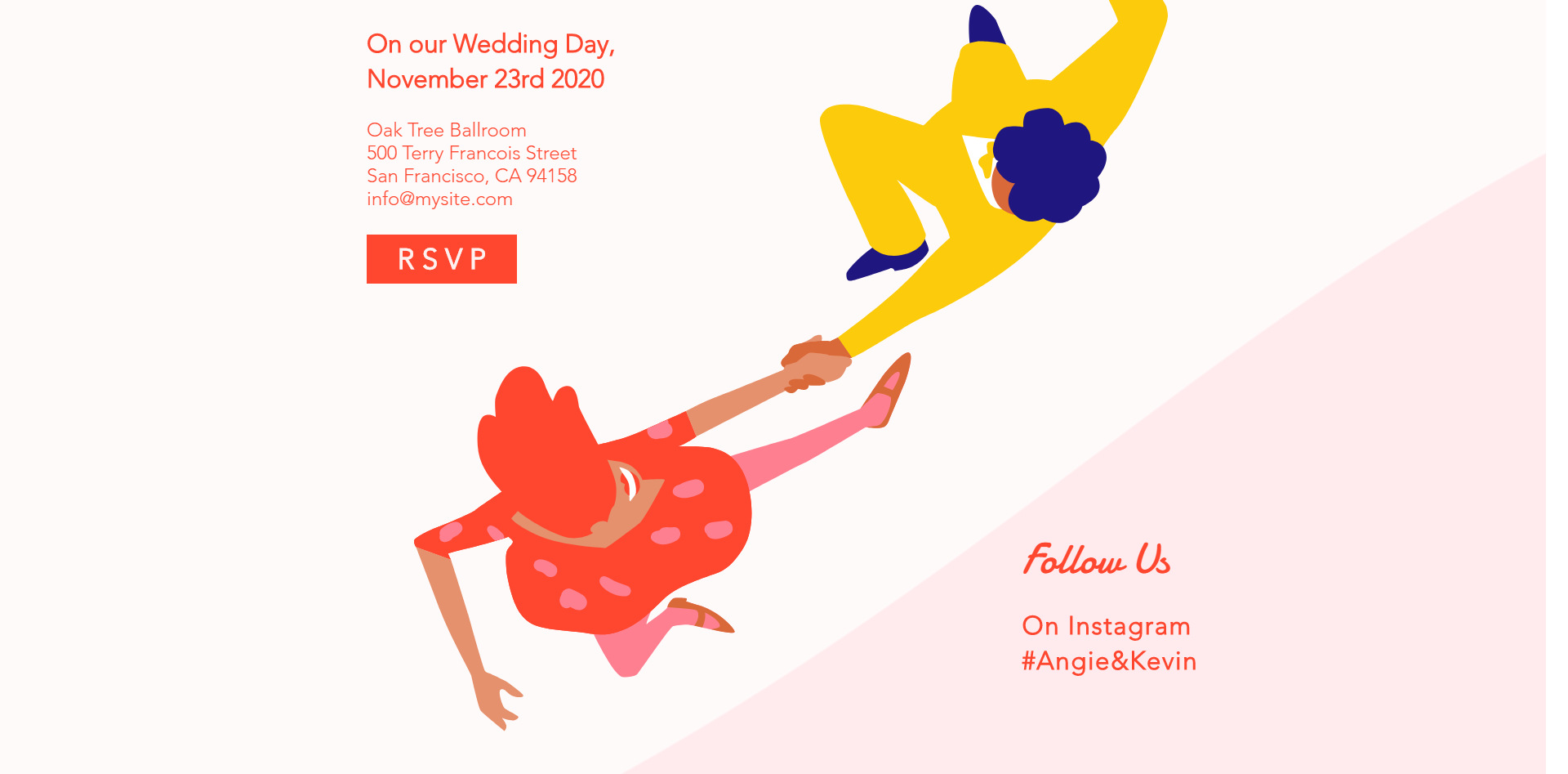 Save-the-Date Landing Page