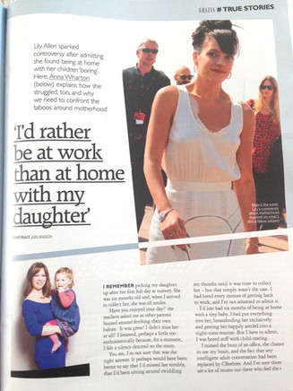 Grazia; I rather be at work than at home with my daughter