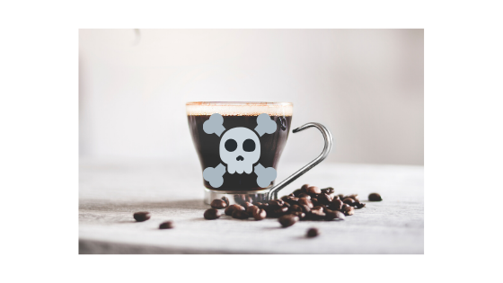 coffee cup with skull on it