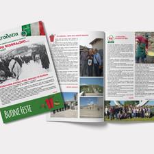 Ideazione e impaginazione del giornale di fine anno dell'Associazione Alpini di Conselice - RA.