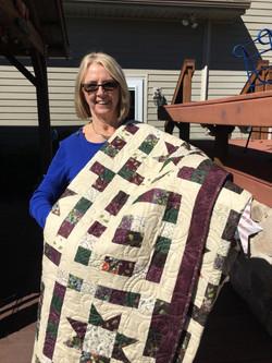 Janie Oakley, winner of 2020 Donation Quilt