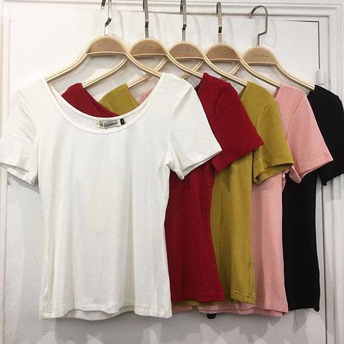 T-SHIRT Blanc , Noir ,Rouge ,Rose ,jaune