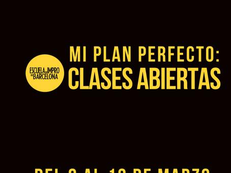 Mi plan perfecto, las clases abiertas