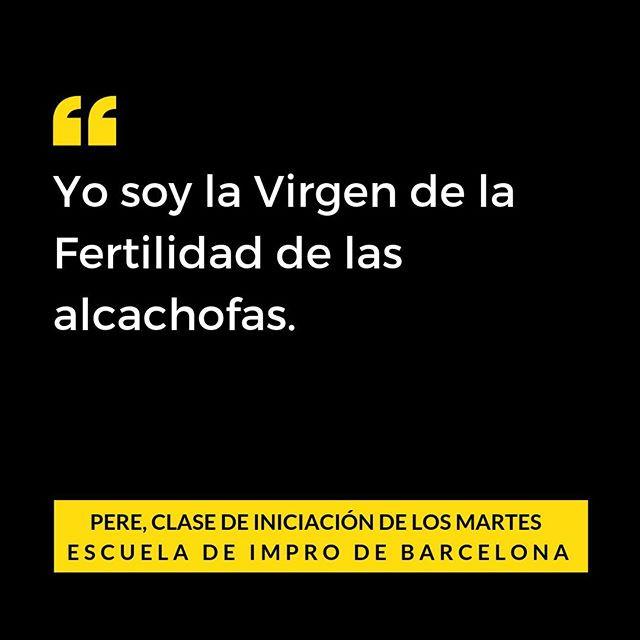 Cita real de clase de impro en la Escuela de impro de Barcelona