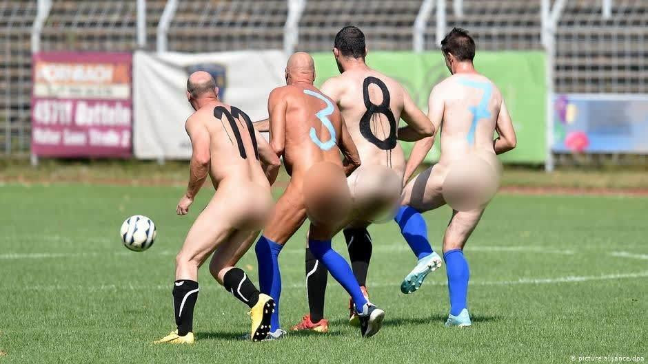 Naked protest against the commercialisation
