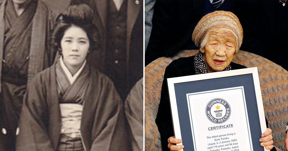 Kane Tanaka, the world's oldest person