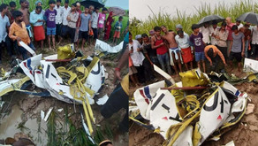 Helicopter crashes in UP's Azamgarh