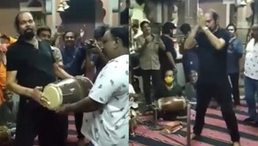BJP MLA who recovered from Covid-19 dances in the temple without a mask