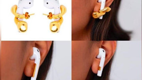 Earrings to hold Apple AirPods