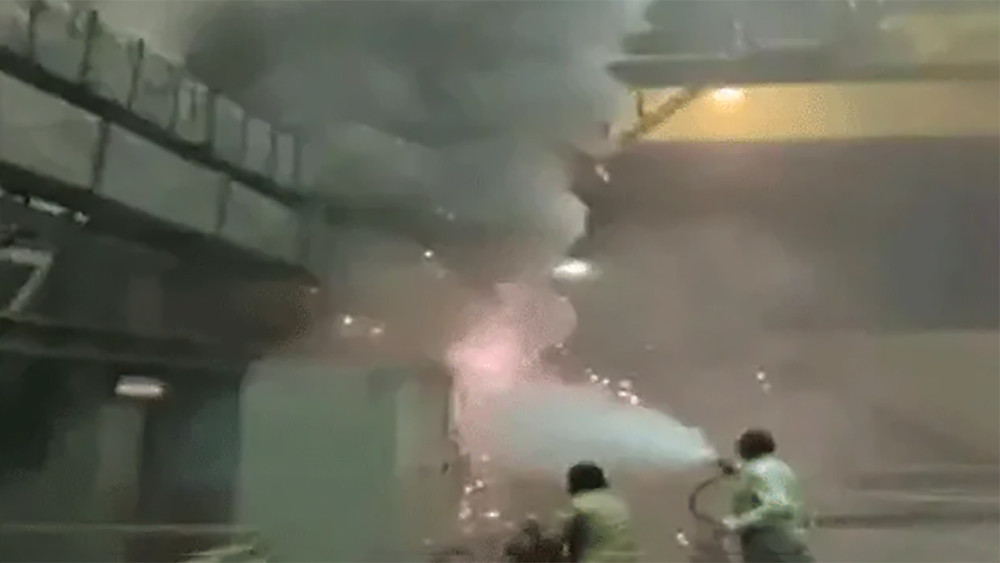 Fire at a hydroelectric plant in Telangana