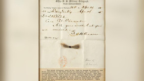Abraham Lincoln's hair with bloodstained telegram up for sale
