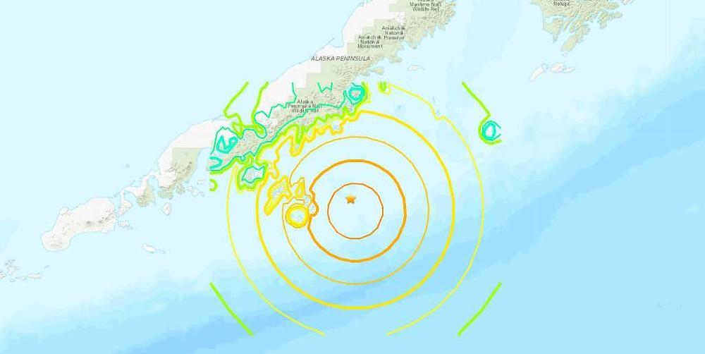 7.8 magnitude earthquake hits near Alaska peninsula