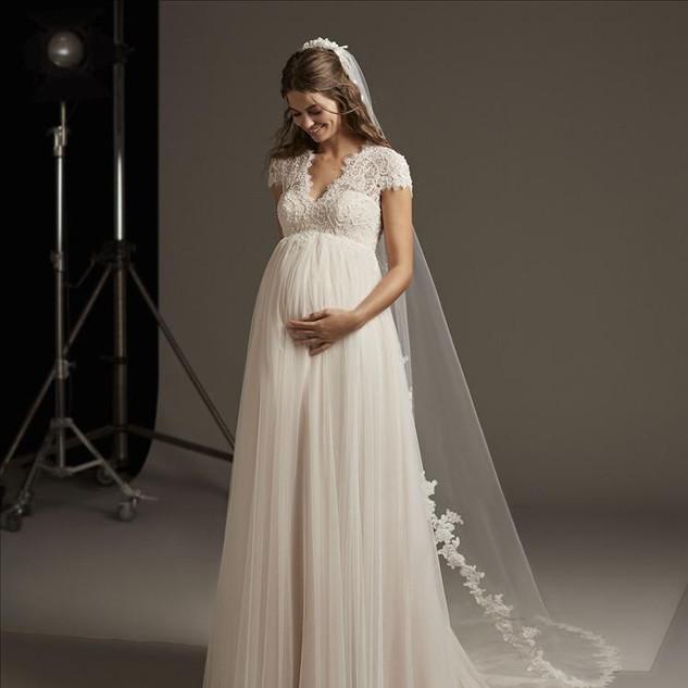 Umstandskleid-Brautkleid Schwangere-lieb