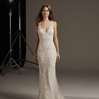 super service Einkaufen attraktiver Stil Hochzeitskleid, Brautkleid Meerjungfrau, figurbetont, BadenBaden