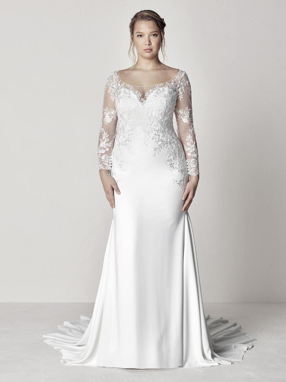 liebesbraut-pronovias-Brautkleider große Größen-Brautkleider
