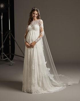 liebesbraut-Brautkleider Schwangere-Pron