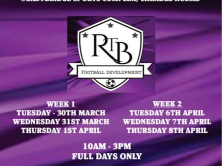 Only 1 Week to Left to book on our Easter Camp