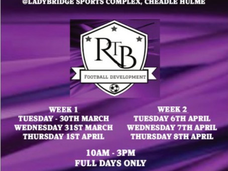 Don't Miss Out On The RTB Easter Football Camp