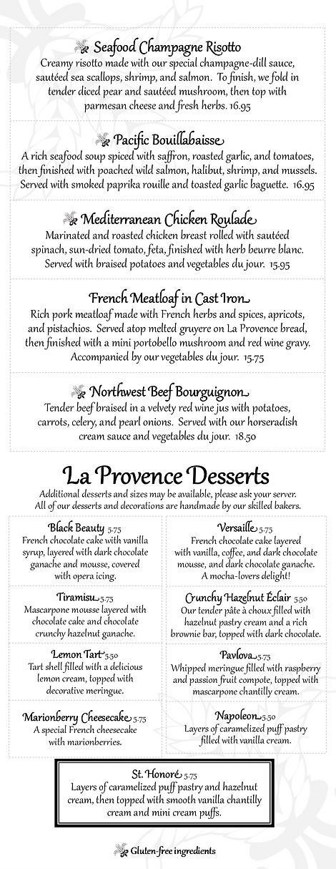 Provence Summer 2021 Dinner pg2