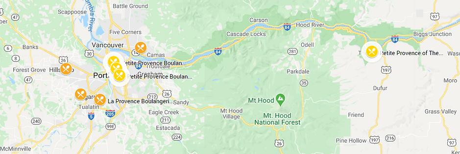 La Provence & Petite Provence Bistro - Boulangerie - Patisserie locations map in Portland-Metro Area, Oregon