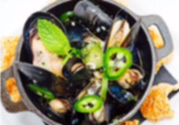 Mussels with jalapenos