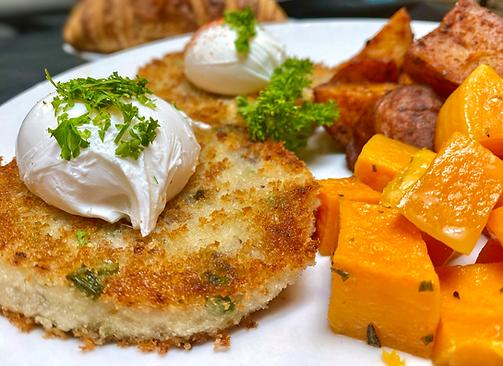 La Provence Risotto Cakes & Eggs