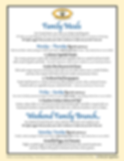 La Provence Family Meal Menu, starts 5/26/20. Click to view printable.