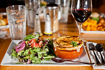 French Onion Soup and Salad