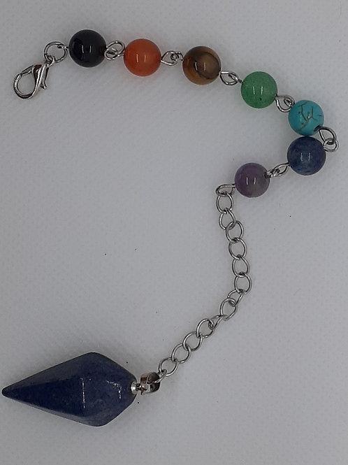 Pendule hexagonal en lapis-lazuli