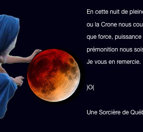 Lune Rouge / Pleine Lune / Lune du Loup