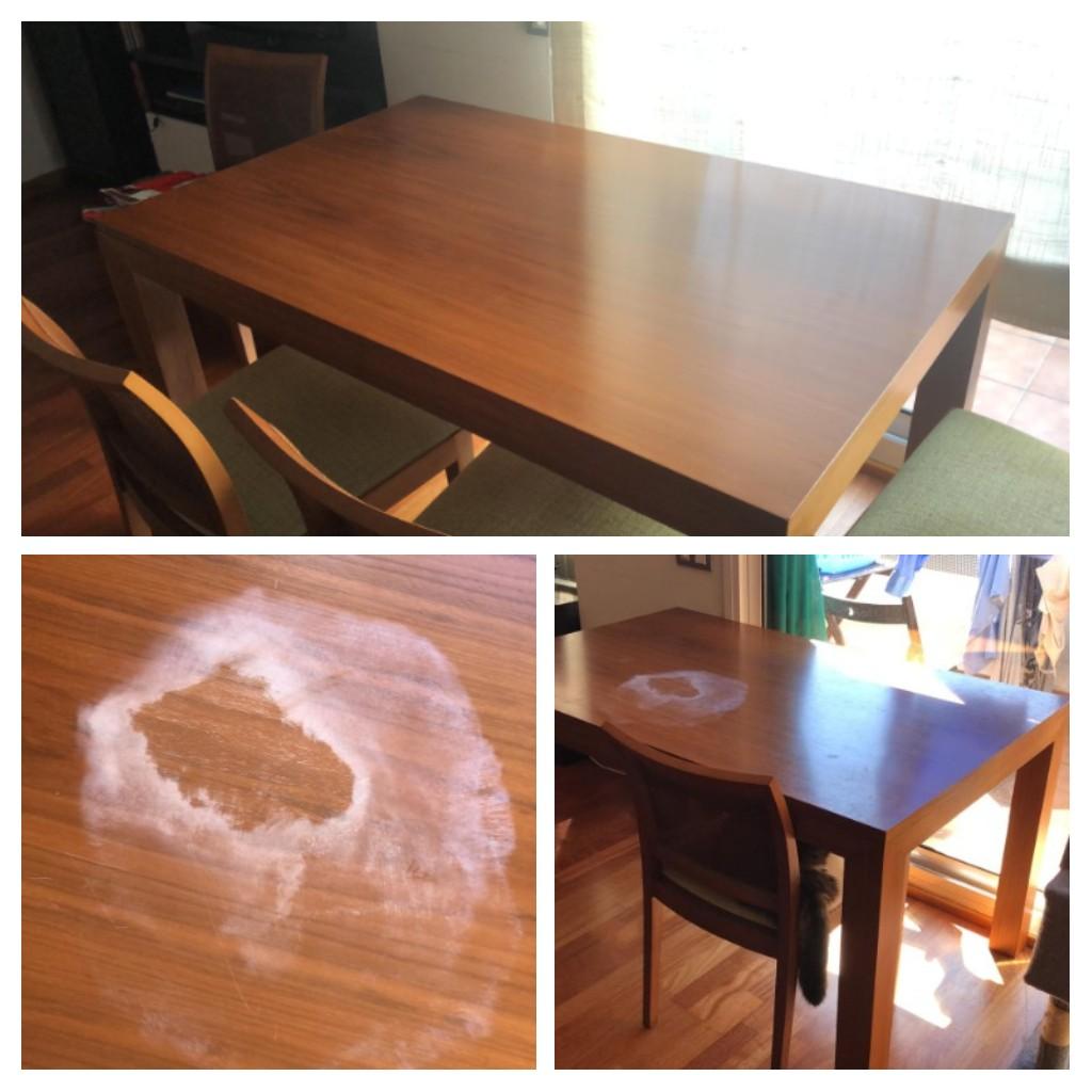 Reparación y barnizado de mesa maciza