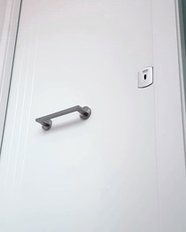 Puerta Blindada Lacada con líneas