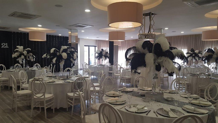 Black & White Feather Bouquets