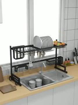 מתקן  כלים מעל הכיור ב2 גדלים לבחירה