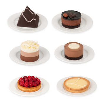 Isolated Dessert Products