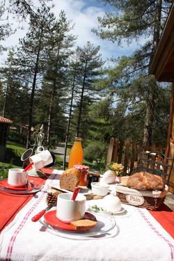 Petit déjeuner un matin d'été