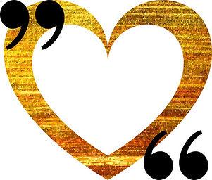 Gold Heart Quotation Mark Speech Bubble