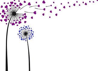 Dandelions of Hearts Purple and Blue.jpg