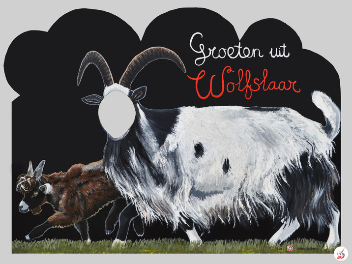 Cut-Out Photo Board Land Goats
