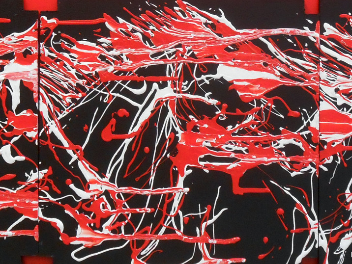 Dripping Horses (triptych)