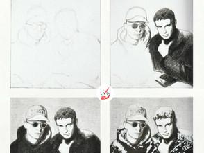 Pet Shop Boys Portrait in Progress